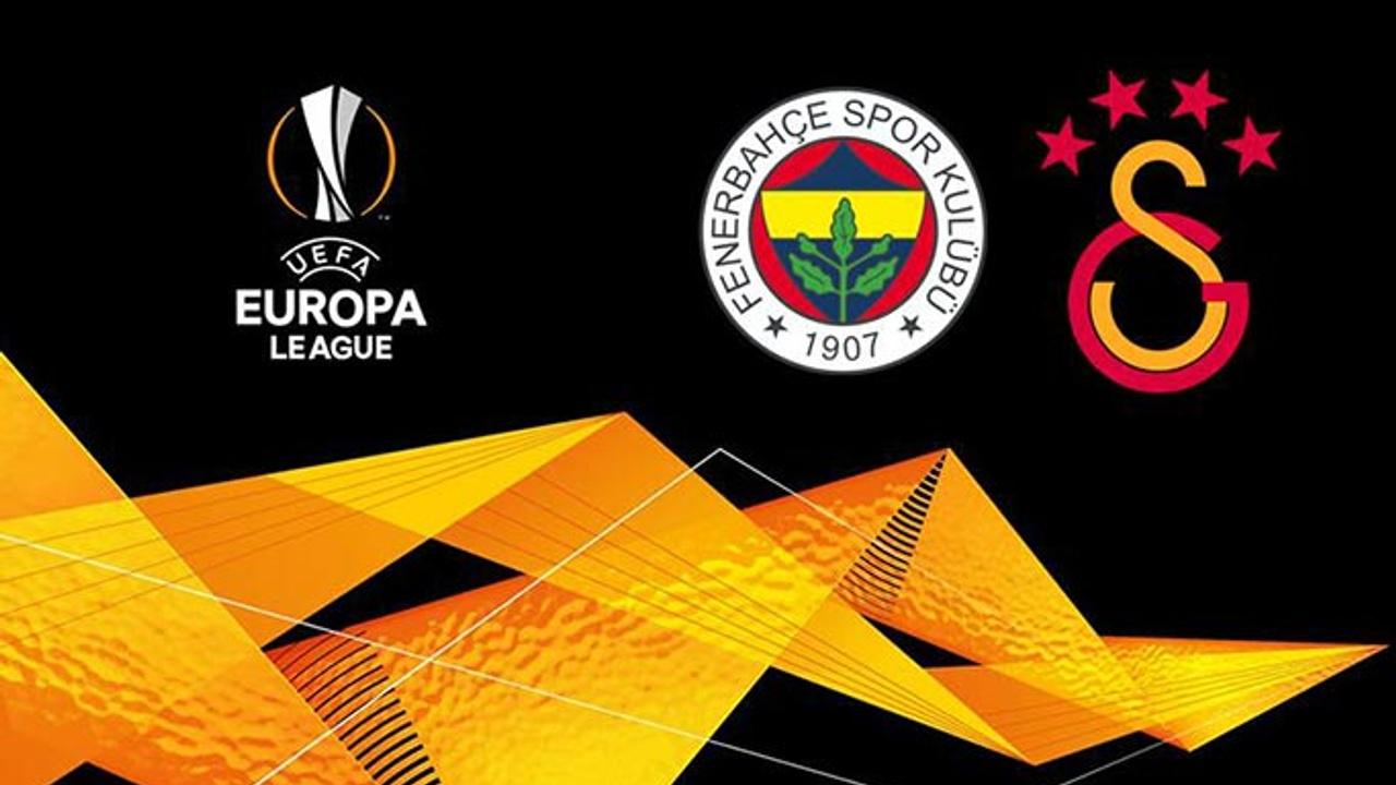 Fenerbahçe ve Galatasaray UEFA Avrupa Ligi rakipleri belli ...