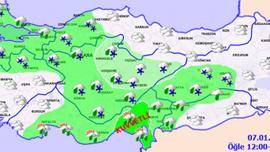 Türkiye geneli hava durumu HARİTALI