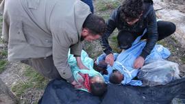 İdlib'den yürek burkan görüntüler