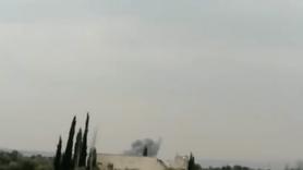 Görüntüleri Türk askeri çekti: Ruslar bombaladı