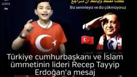 Filistinli çocuğun Erdoğan'a seslenişi