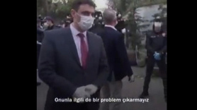 Polis amirinden DİSK üyelerine nezaket dersi