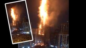 86 katlı gökdelen alev alev yandı