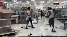 ABD'de marketler böyle yağmalandı