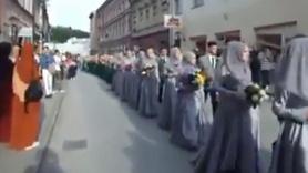 Travnik'te medrese mezunlarının geçiş töreni