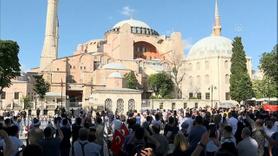Ayasofya'da kararın ardından ilk ezan heyecanı