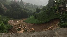 Rize'deki sel felaketinden görüntüler