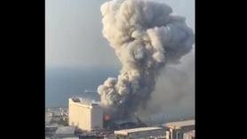 Beyrut'taki patlamada uçan cisim detayı