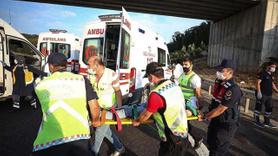 İstanbul'da yolcu otobüsü kazası ölü var
