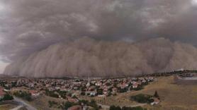 Ankara'da kum fırtanısı, işte dehşet anları
