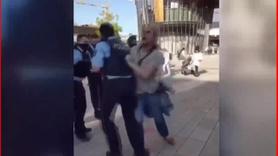 Alman polisinin engelliye şiddeti kamerada