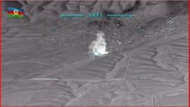 Ermenistan'a ait mühimmat deposu böyle vuruldu
