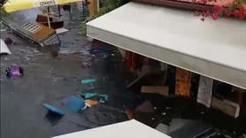 İzmir'deki deprem sonrasında sular yükseldi