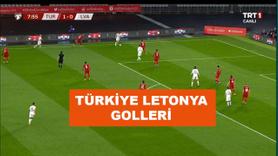 Türkiye Letonya gollerini kim attı?