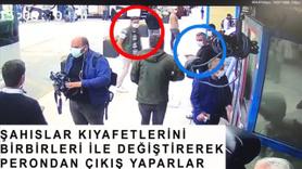 Teröristlerin 'kıyafet' oyunu kamerada