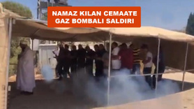 Namaz kılan cemaate gaz bombası atıldı