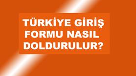 Türkiye Giriş Formu PDF
