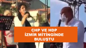 CHP ve HDP İzmir'de ortak mitingde buluştu