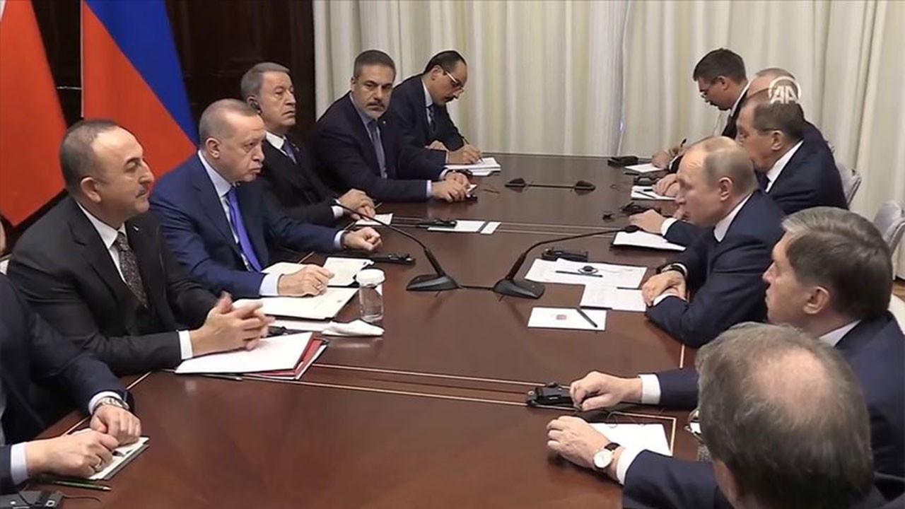 Erdoğan ve Putin Almanya'da görüştü