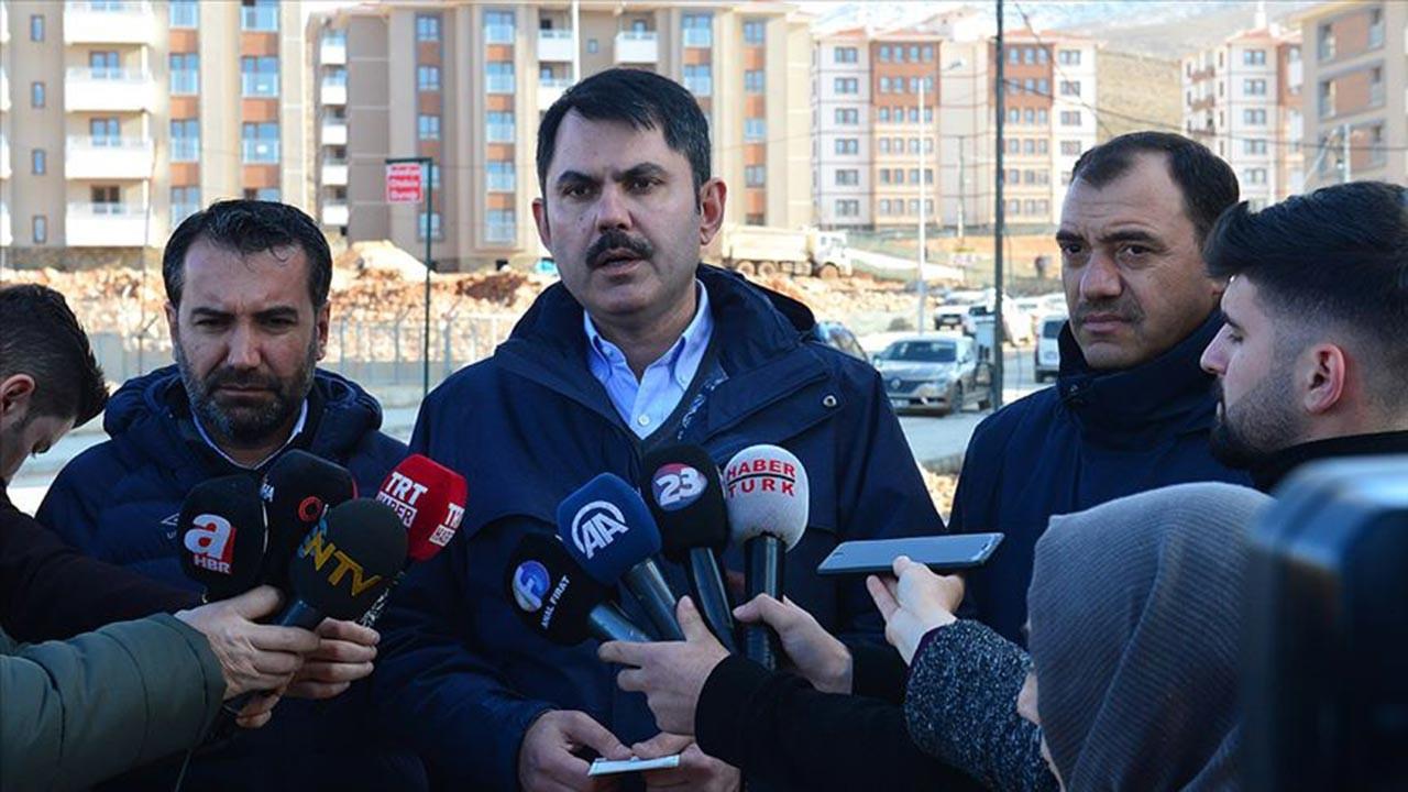 Bakan Kurum Elazığ'daki son durumu açıkladı