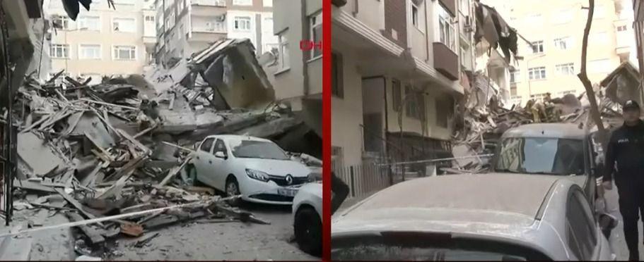 İstanbul'da çöken binadan ilk görüntüler - Sayfa 1