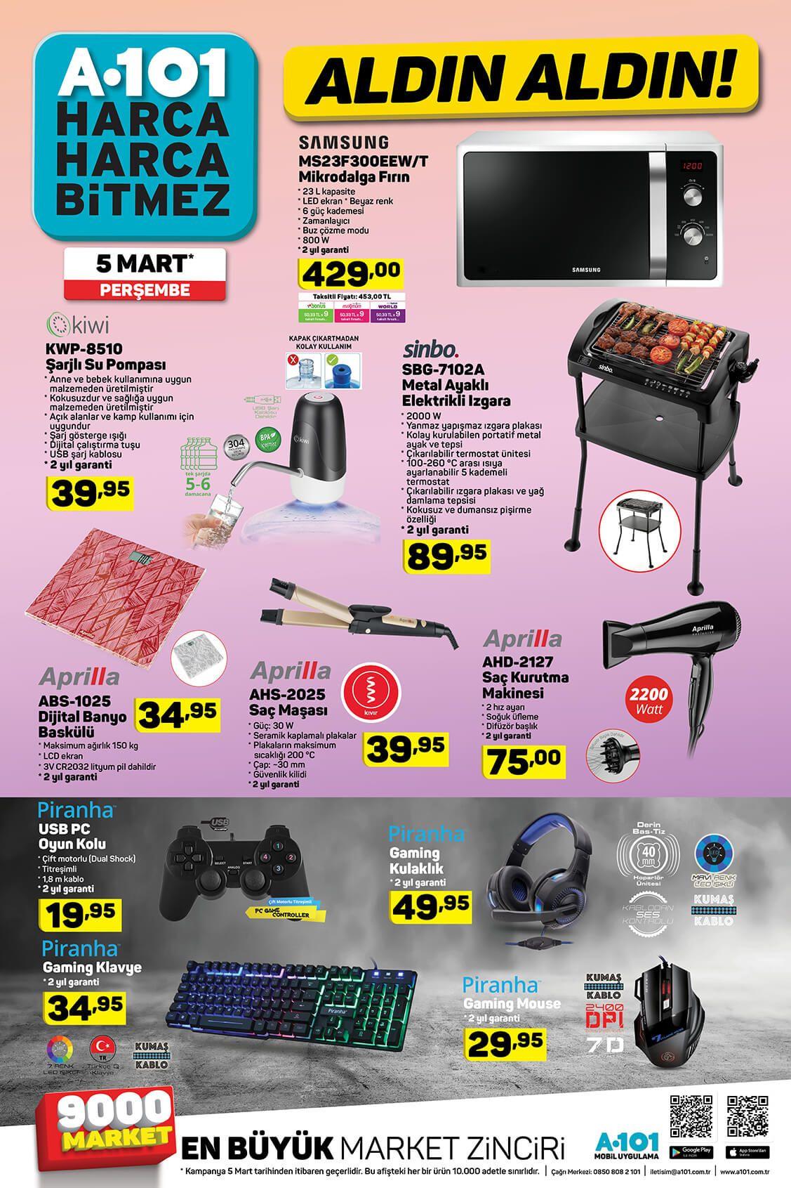 A101 5 Mart 2020 ürün kataloğu - Sayfa 3