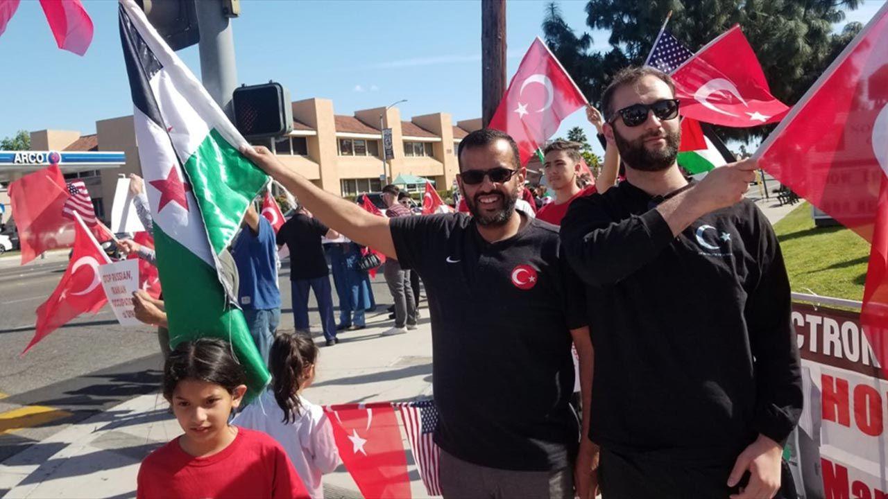 ABD'de Türkiye'ye destek gösterisi - Sayfa 1