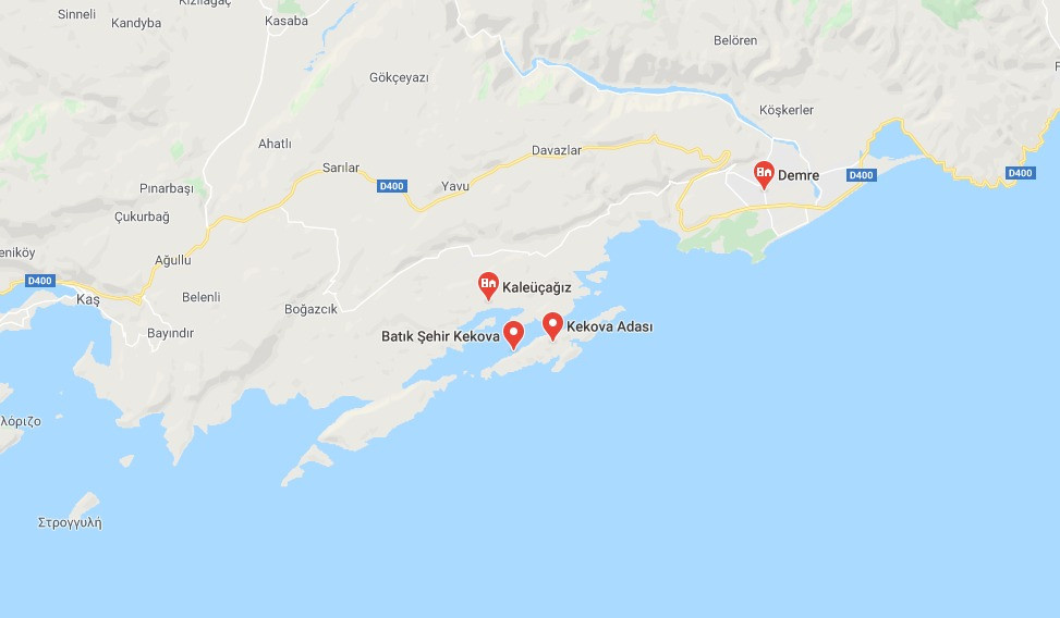 Kekova adası nerede