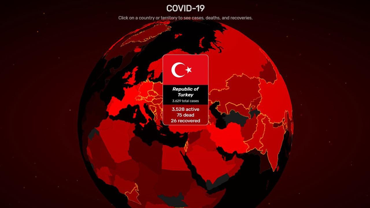 Dünya koronavirüs haritası