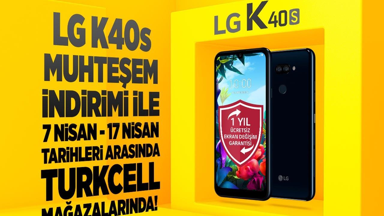LG K40s Turkcell Mağazalarında