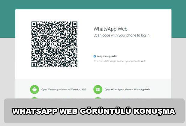 WhatsApp Web görüntülü konuşma var mı