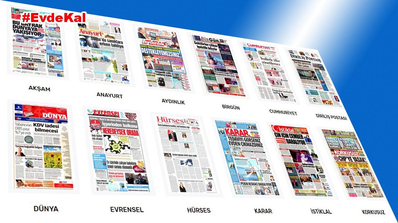 30 Nisan Perşembe Gazete manşetleri