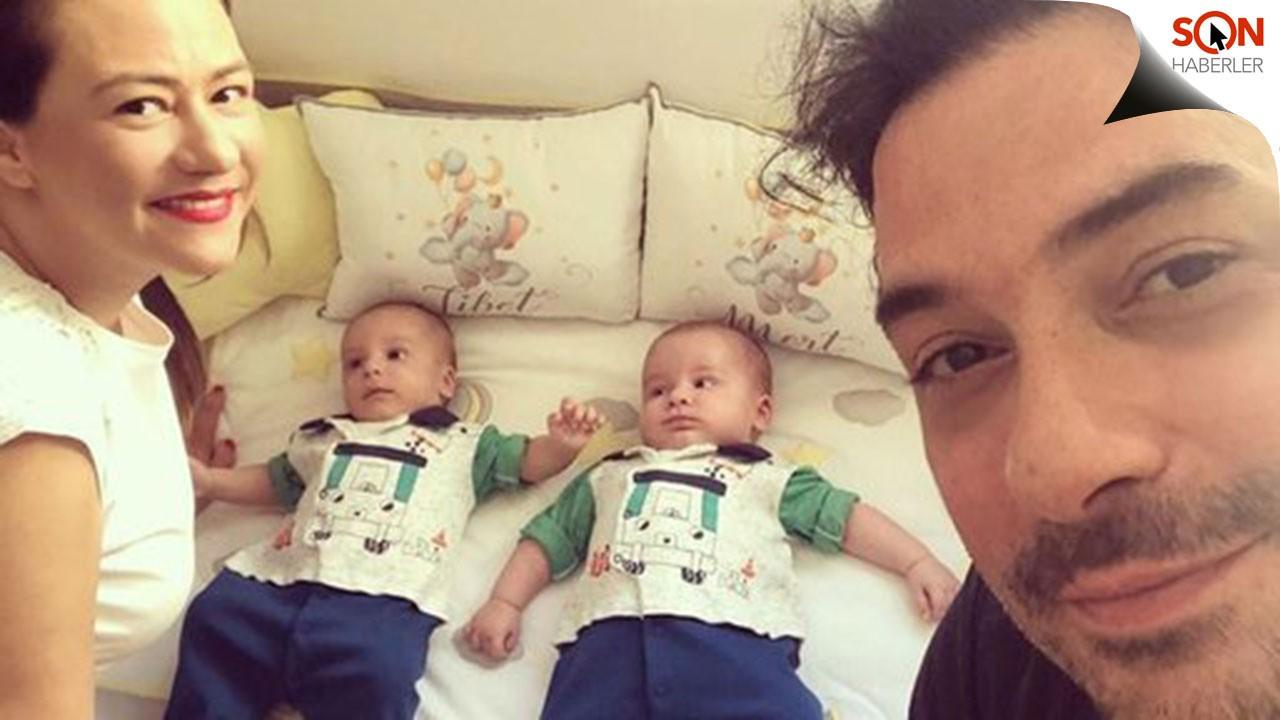 Ezgi Sertel ikizlerinin resmini paylaştı