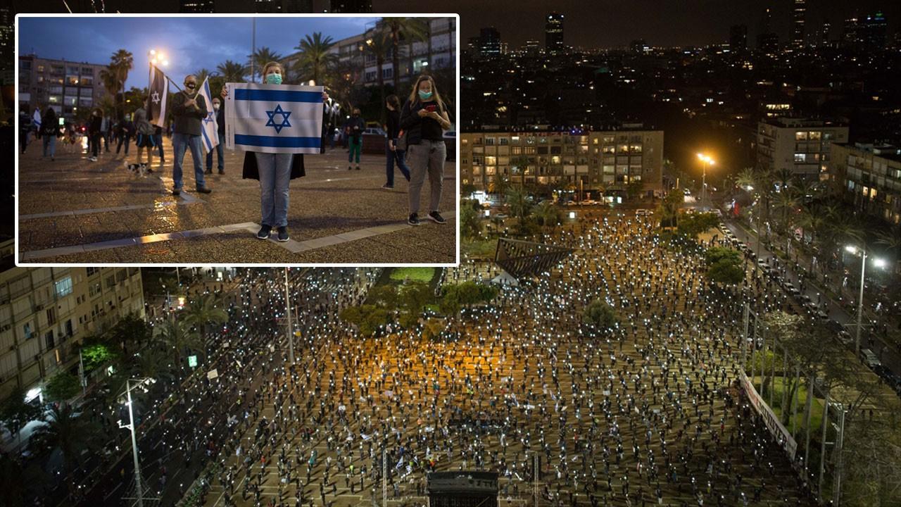İsrailliler Netanyahu'ya karşı meydanlara indi