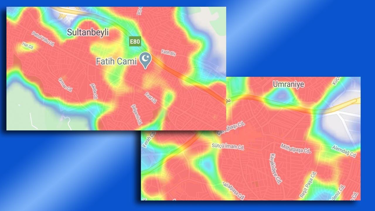 İstanbul'da ilçe ilçe koronavirüs haritası