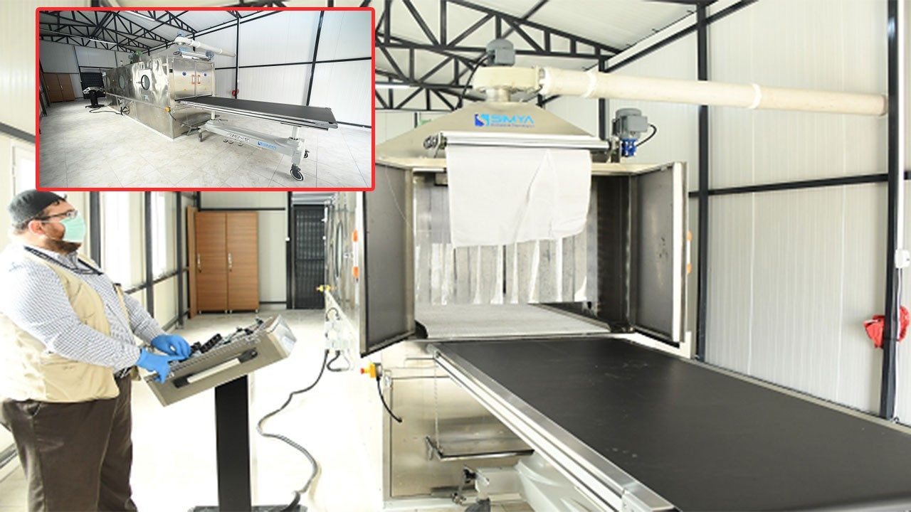 Otomatik cenaze yıkama makinesi üretildi