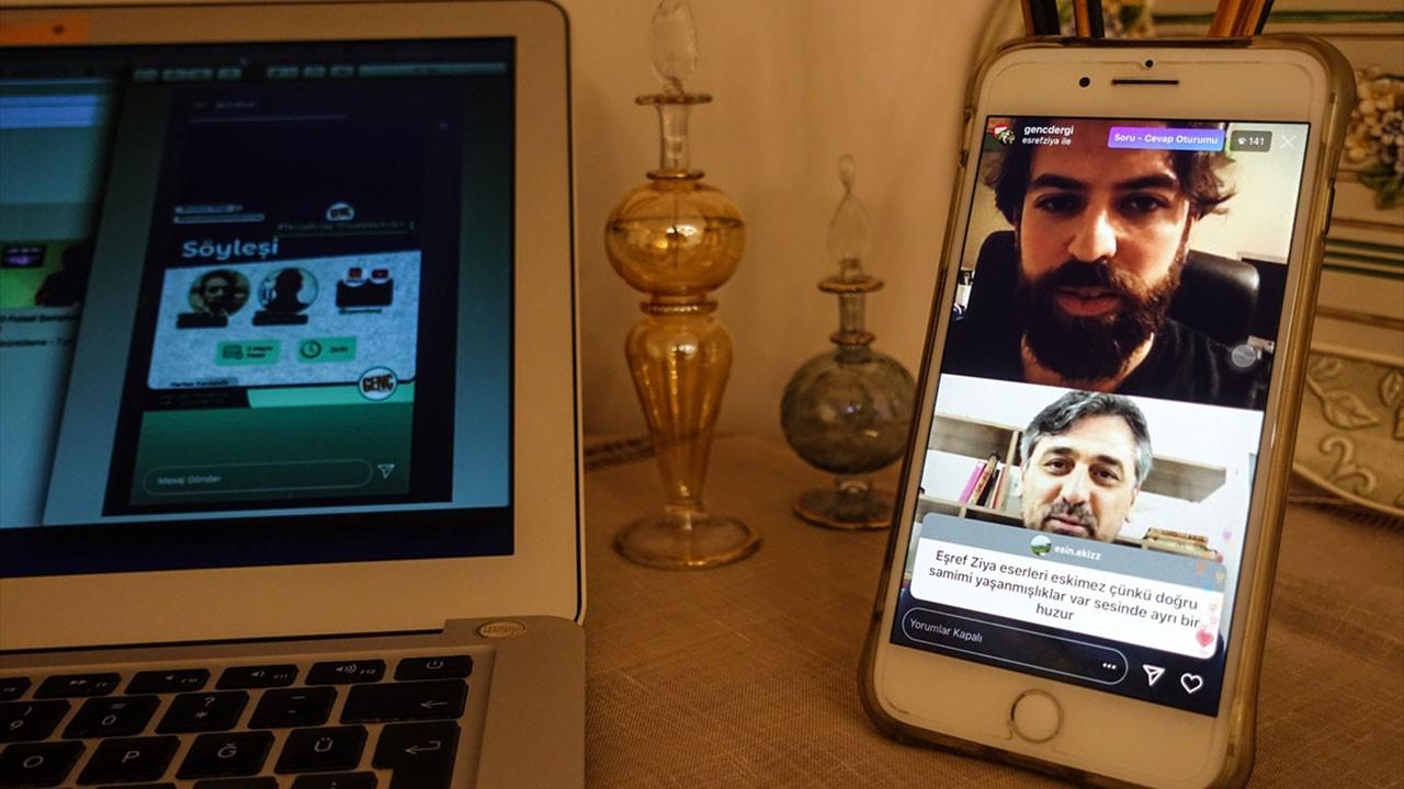 Eşref Ziya Terzi Instagram'dan gençlerle buluştu