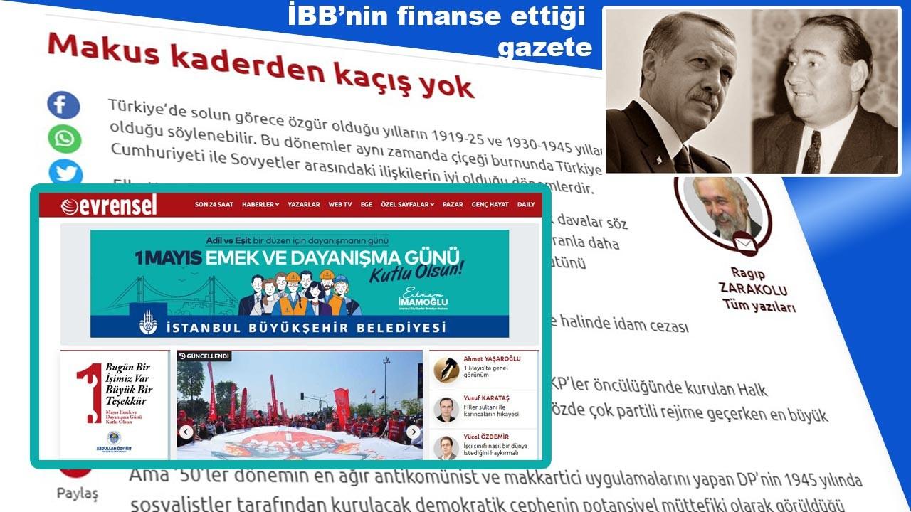 CHP ve İBB'nin reklam verdiği Evrensel'de Ragıp Zarakolu'dan skandal yazı