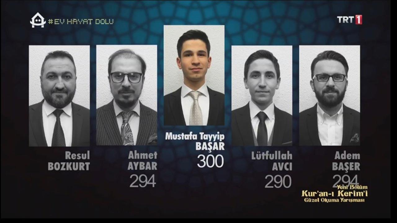TRT Güzel Okuma Yarışması'nın 5 Mayıs sonuçları