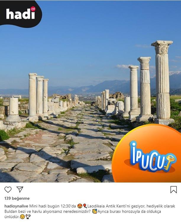 Laodikeia Antik Kenti'ni geziyor, hediyelik olarak Buldan bezi ve havlu alıyorsanız neredesinizdir?