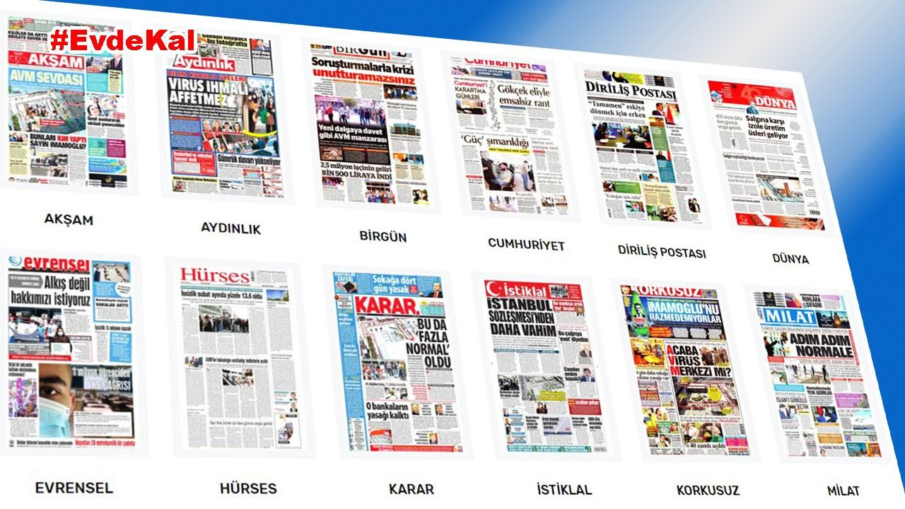 Gazetelerin bugünkü manşetleri ve başlıkları