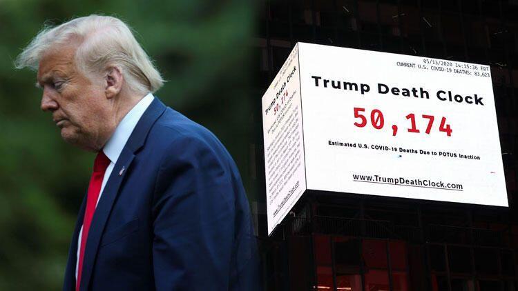 Times Meydanı'na Trump'ın ölüm saatini astılar - Sayfa 1
