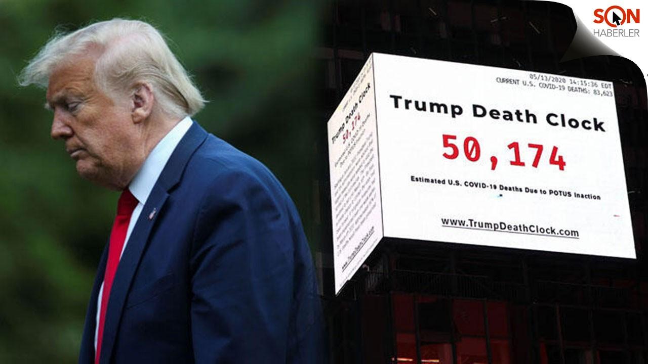 Times Meydanı'na Trump'ın ölüm saatini astılar