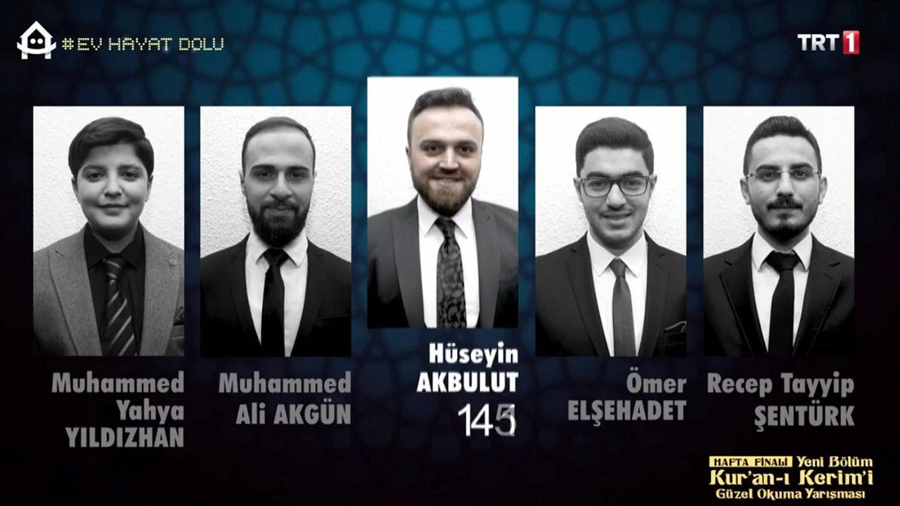 Kur'an-ı Kerim Güzel Okuma Hafta Finali sonuçları
