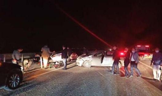 Ulaştırma Bakanı'nın konvoyunda zincirleme kaza, yaralılar var - Sayfa 1
