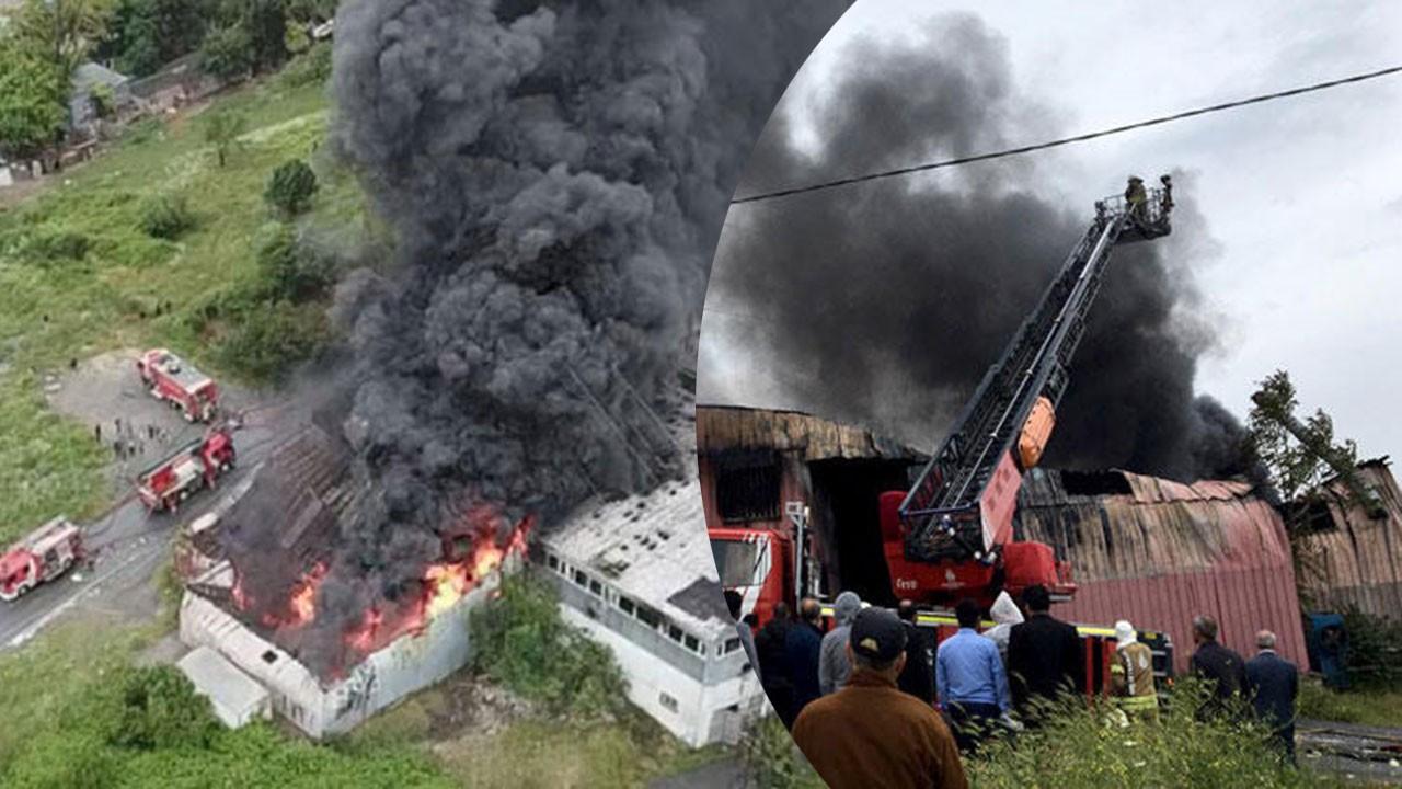İstanbul Avcılar'da korkutan fabrika yangını