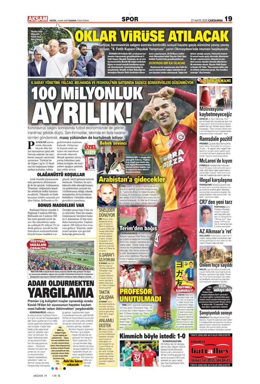 Spor gazetelerinin 27 Mayıs manşetleri - Sayfa 3