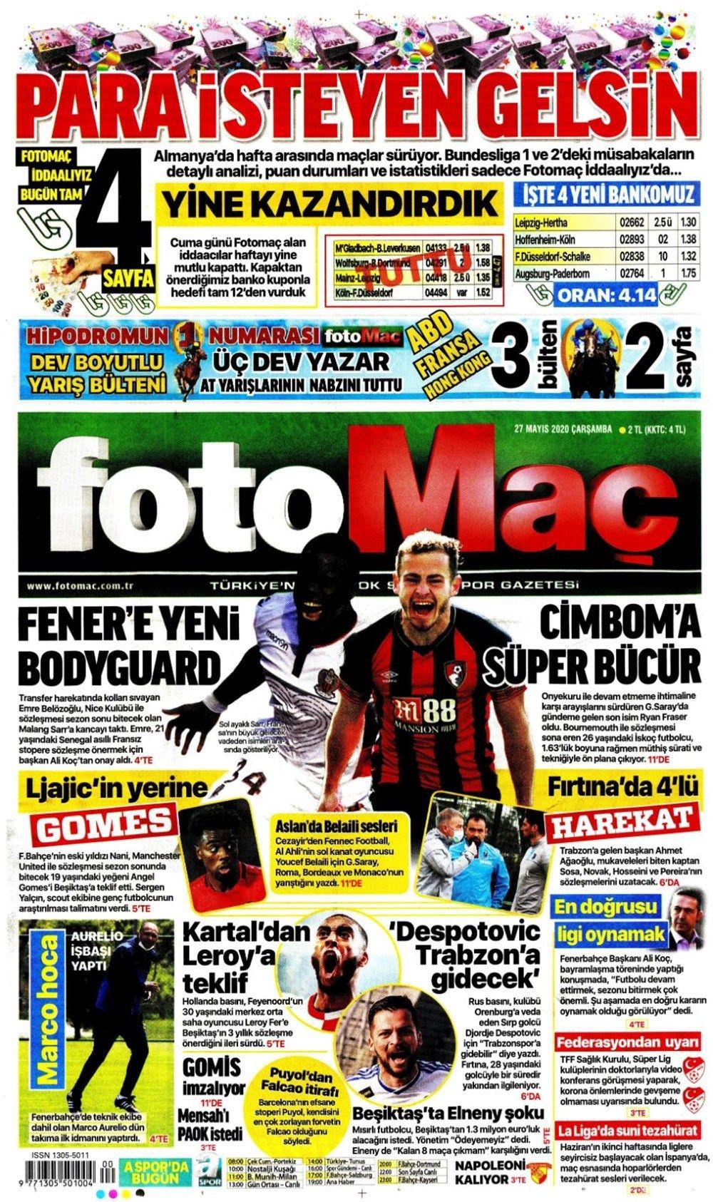 Spor gazetelerinin 27 Mayıs manşetleri - Sayfa 4