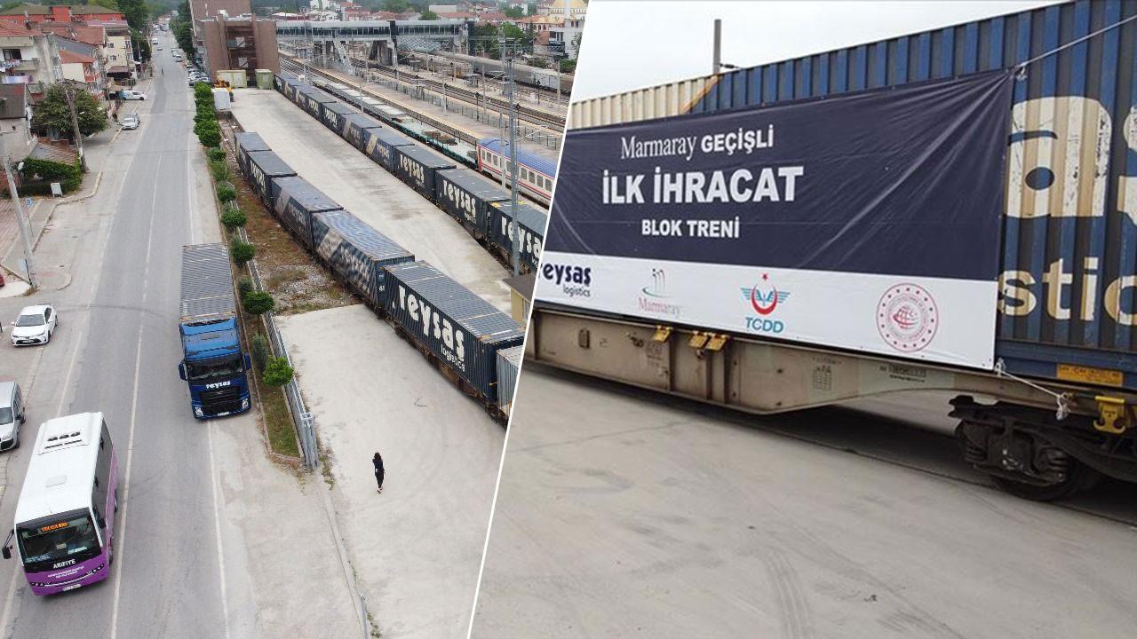 Marmaray Hattı üzerinden Almanya'ya ilk tren vardı