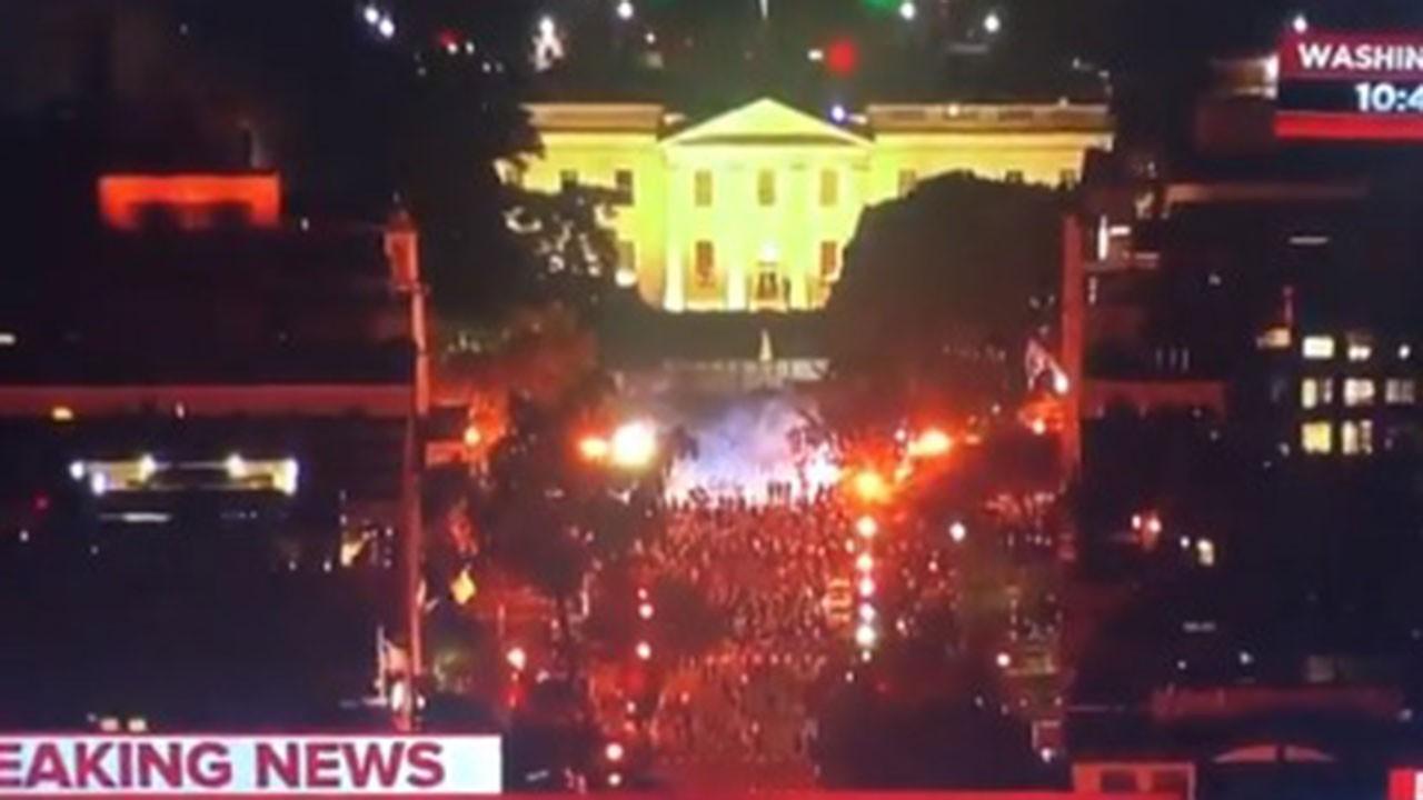 Beyaz Saray önünde çatışma, sokağa çıkma yasağı!